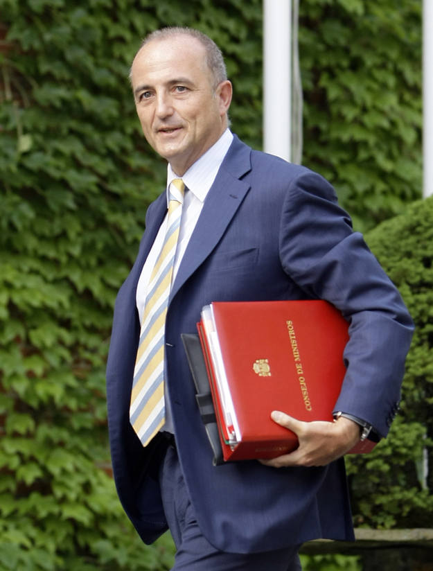Spain's Industry Minister Sebastian arrives to attend an extraordinary cabinet meeting at the Moncloa Palace in Madrid