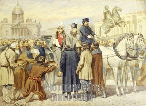 Emperor Alexander II. proclaimed the Emancipation of the serfs manifesto on 1861