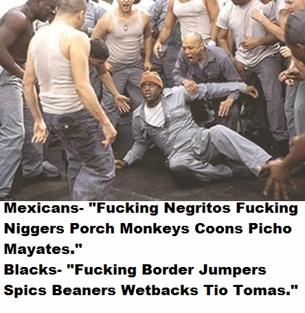 Blacks VS Mexicans Prison Fight