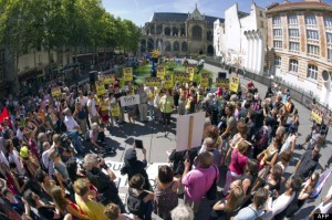 FRANCE-RUSSIA-POLITICS-MUSIC-RIGHTS-PROTEST