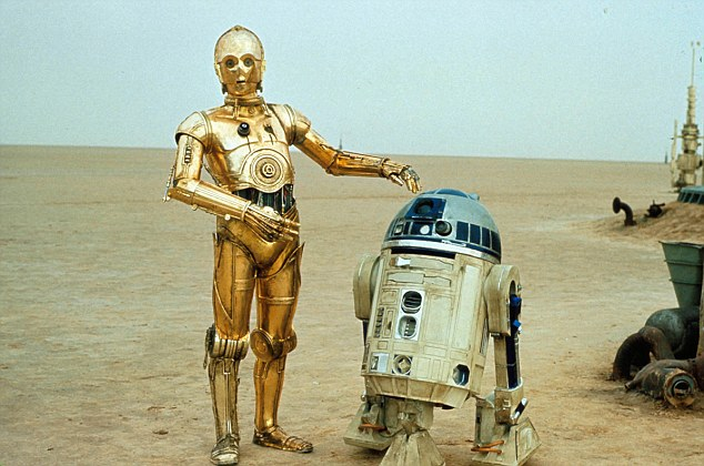 B7W6MH Star Wars la guerre des etoiles Star Wars Annee 1977 usa R2 D2 Annee R2D2 C 3PO Annee C3PO Realisateur George Lucas